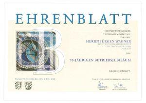 Elektro Wagner | Ehrenblatt